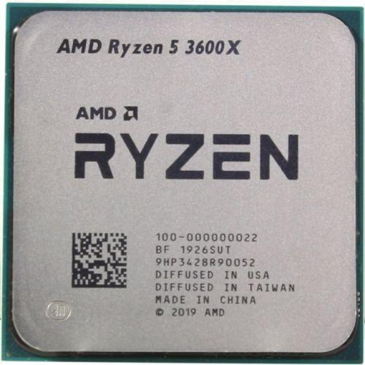 CPU AMD Ryzen 5 3600X OEM {3.8GHz up to 4.4GHz/6x512Kb+32Mb, 6C/