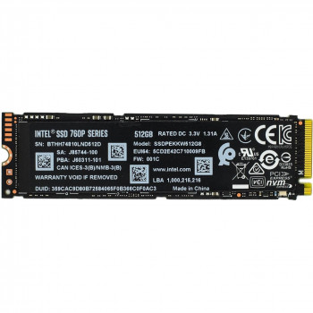 Intel SSD 512Gb M.2 760P Series SSDPEKKW512G801