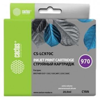 CACTUS  LC-970С Картридж  для Brother Brother DCP-135C/150C/MFC-