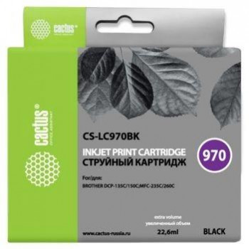 CACTUS  LC-970BK  Картридж  для Brother Brother DCP-135C/150C/MF