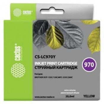 CACTUS  LC-970Y Картридж  для Brother Brother DCP-135C/150C/MFC-