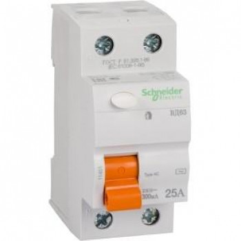 Schneider-electric 11451 ДИФ. ВЫКЛ. НАГРУЗКИ ВД63 2П 25A 300MA А