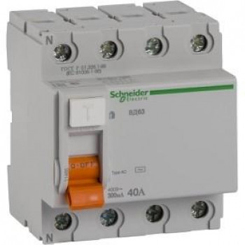 Schneider-electric 11465 ДИФ. ВЫКЛ. НАГРУЗКИ ВД63 4П 40A 300MA А